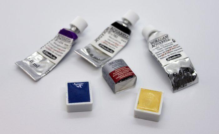 W&Nとシュミンケホラダムの透明水彩絵の具